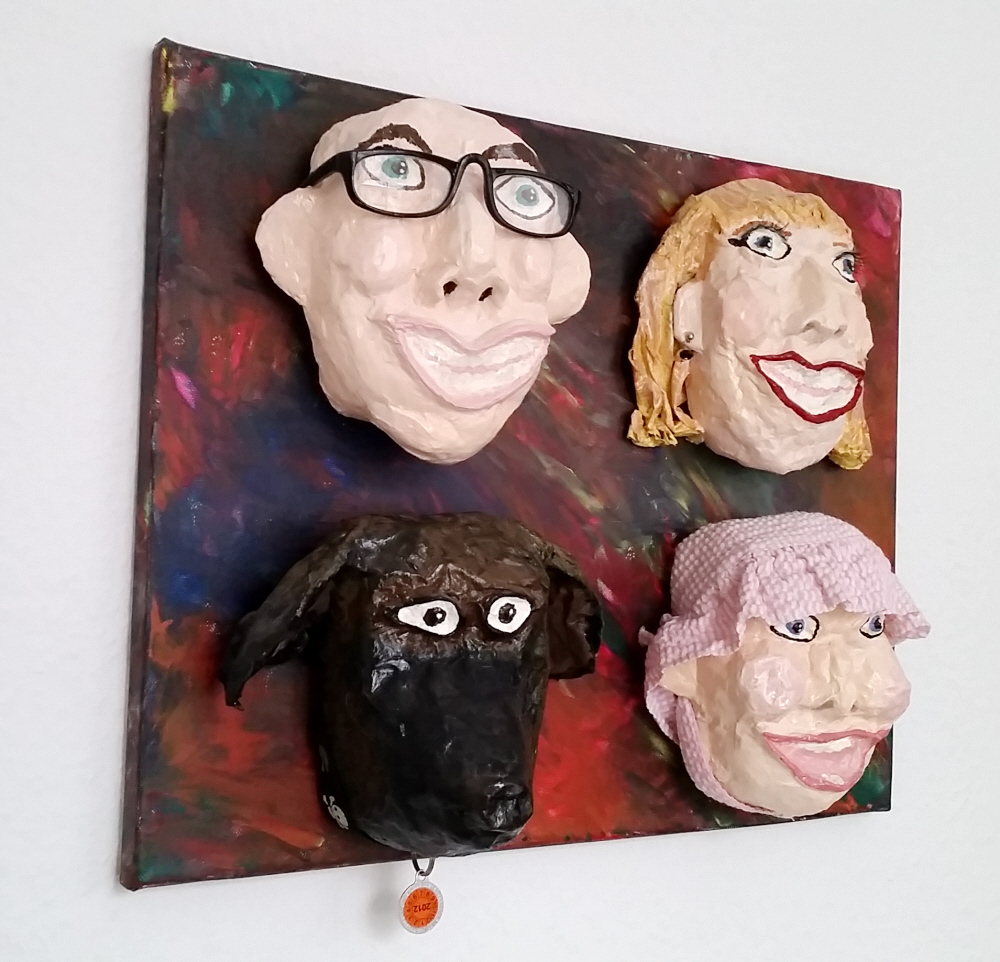 DIY Upcycled Caricature Masks R