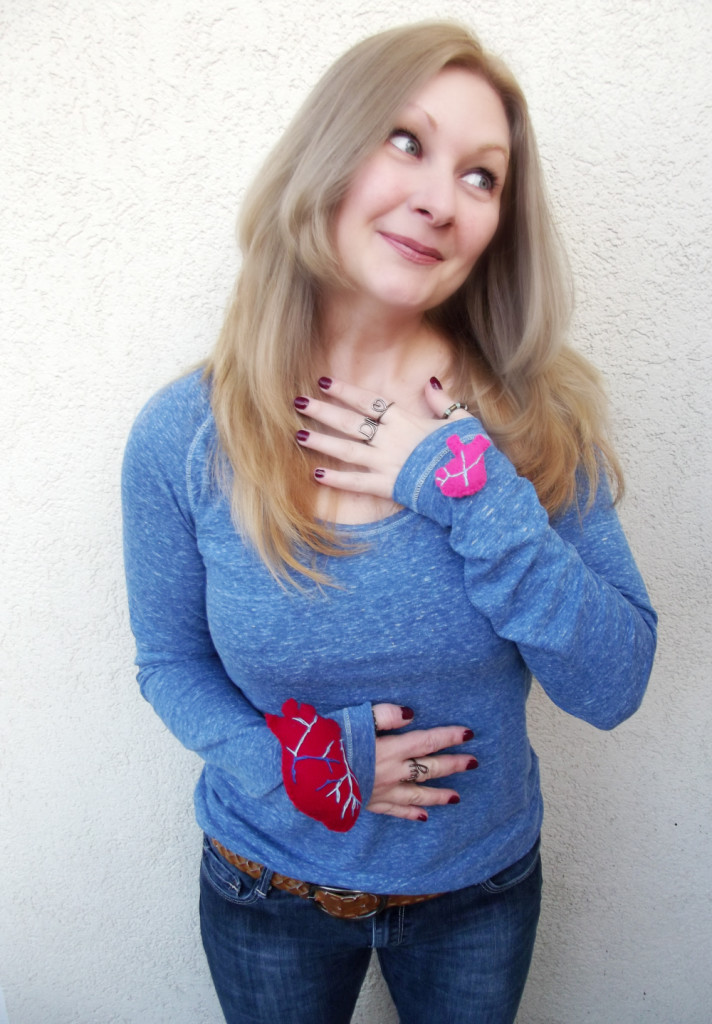 diy heart on sleeve pins after