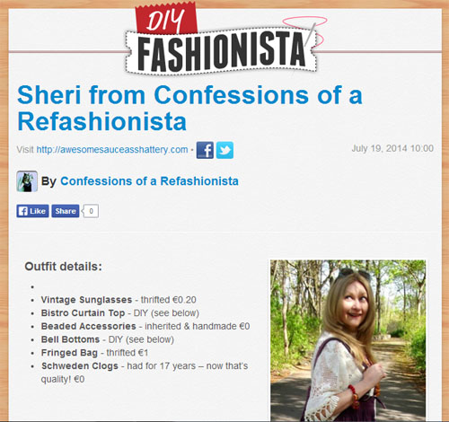 Confessions of a Refashionista in the press