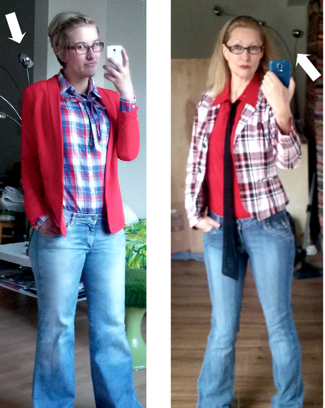 thrifty copycat: Rot Kariert (Red Plaid)