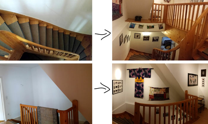 Stairway before & after
