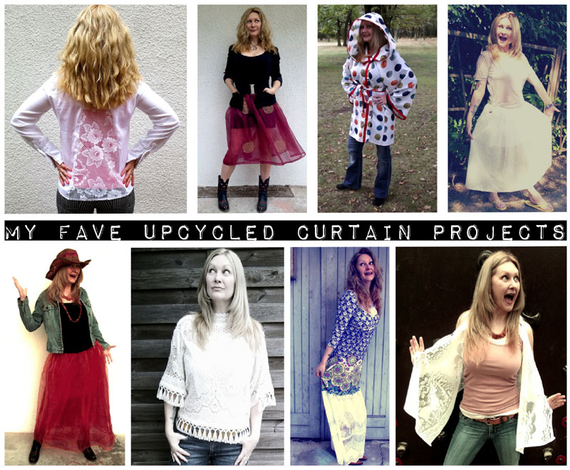 August Refashion Challenge: Upcycled Curtains