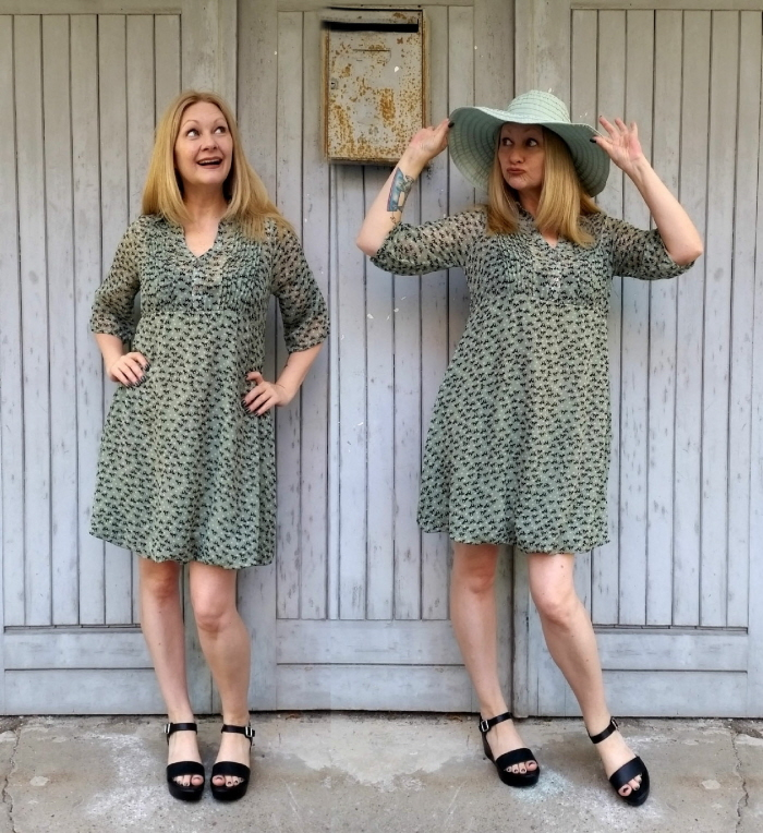 easy no sew dress upsize tutorial after