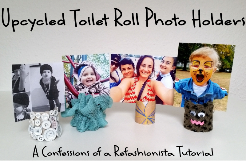 My upcycled toilet roll photo holder