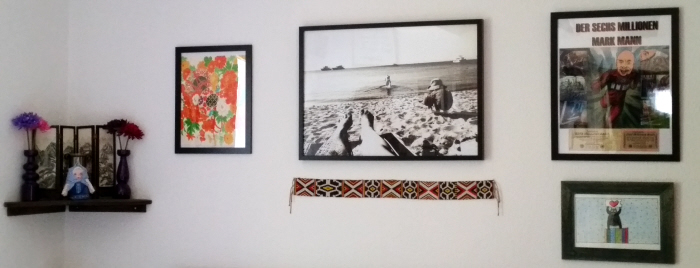 upcycled bedroom collage walls