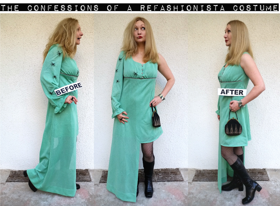 DIY before and after Refashioinista costume tutorial