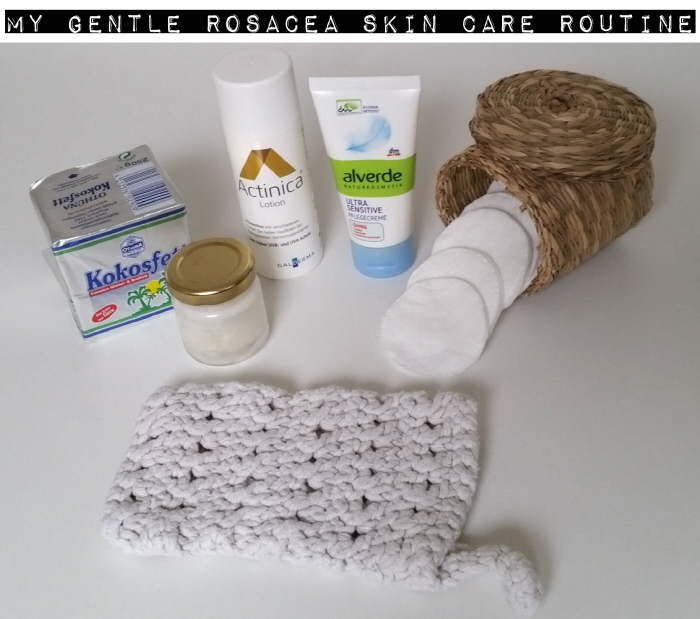My gentle rosacea skin care routine products
