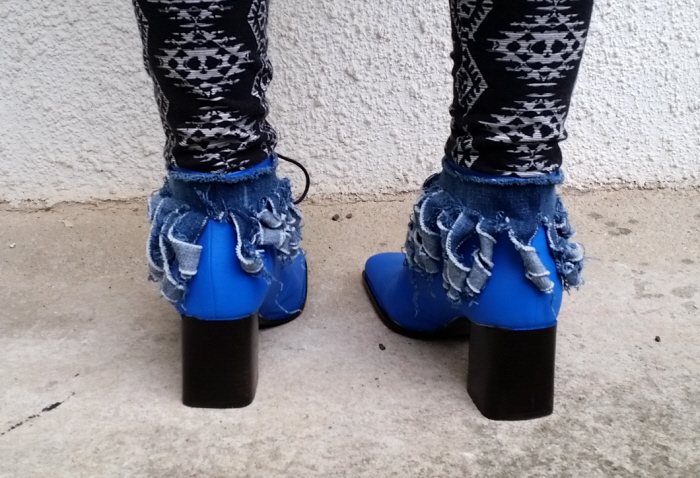 kikikumi refashioned shoes back