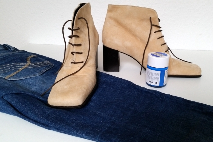 painted fringed refashioned shoes tutorial