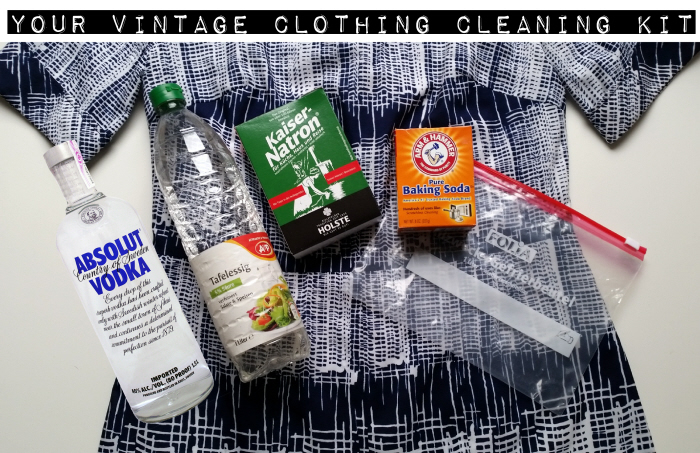 vintage clothing cleaning kit