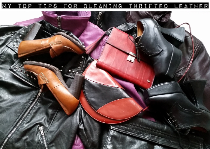 My top tips for cleaning thrifted leather