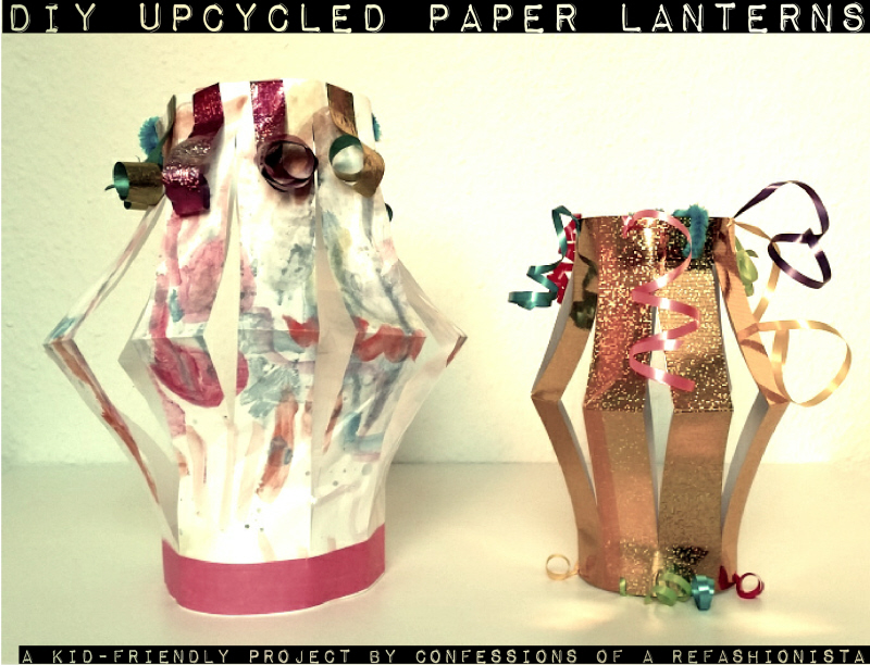 Easy upcycled DIY paper lanterns
