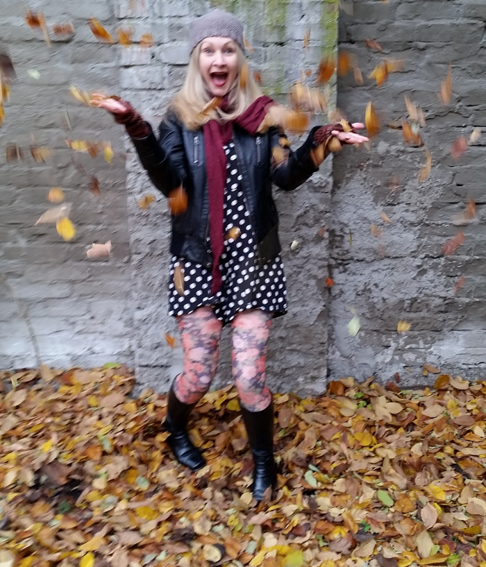 thrifty Autumn pattern mixing ootd