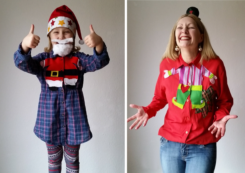 My DIY Upcycled Refashioned Christmas Blouses