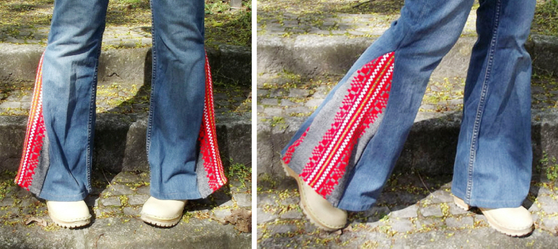 diy boho bell bottoms