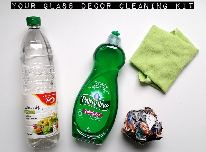 How to clean glass decor