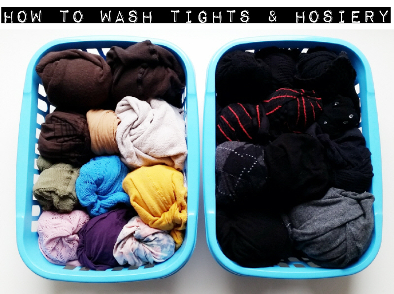 how to wash tights and hosiery
