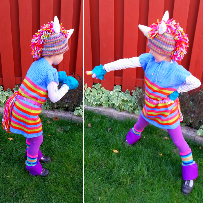 The Refashioned DIY Rainbow Unicorn Costume