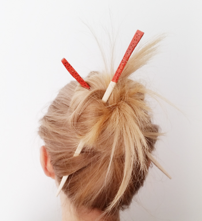 Queen Lila's Easy Hair Stick Bun How To