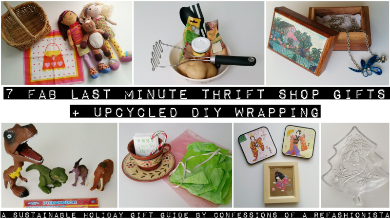 7 fab last minute thrift shop gifts + upcycled DIY wrapping