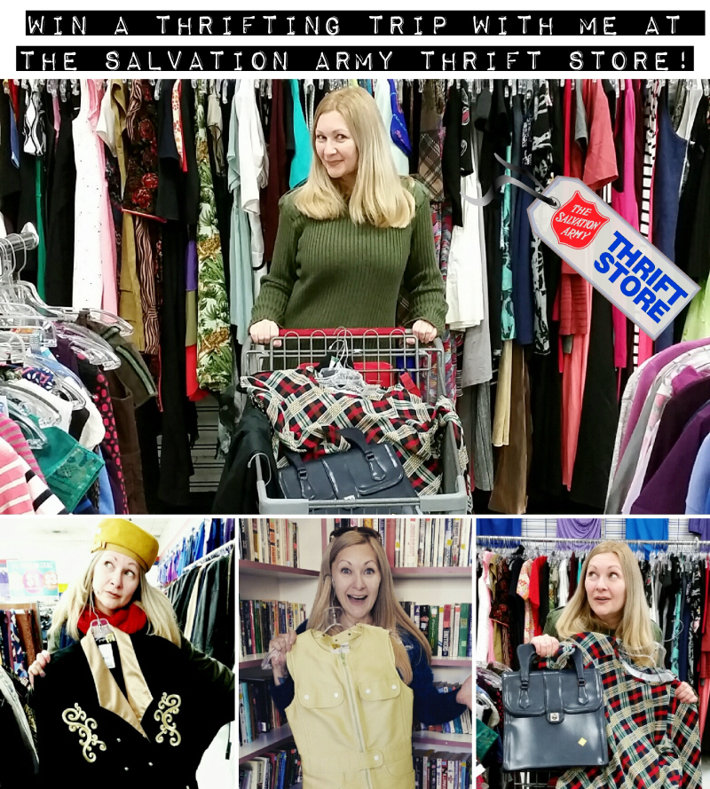 Win a thrifting trip with me at the Salvation Army Thrift Store!