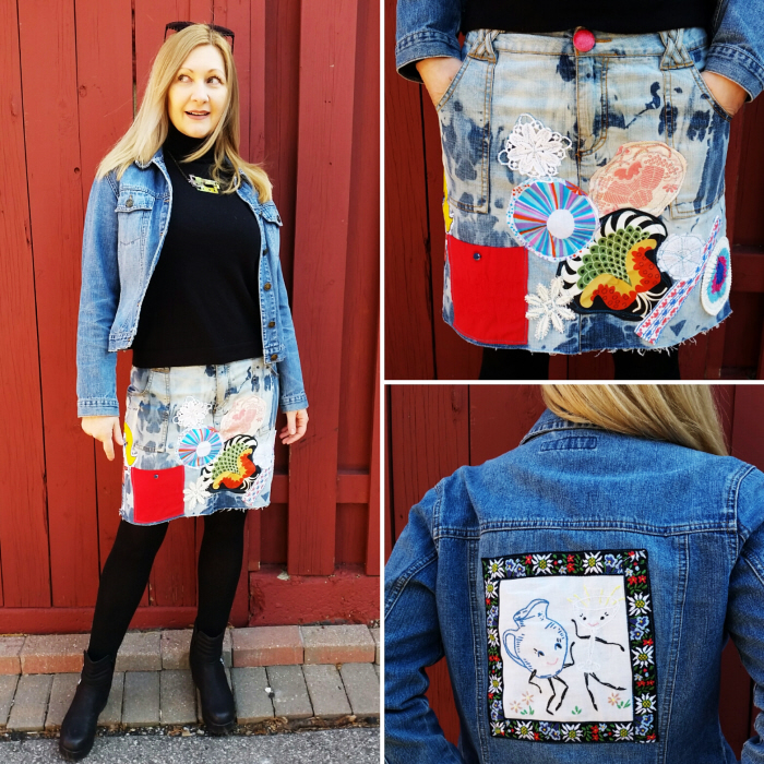 DIY Patchwork Denim Refashion