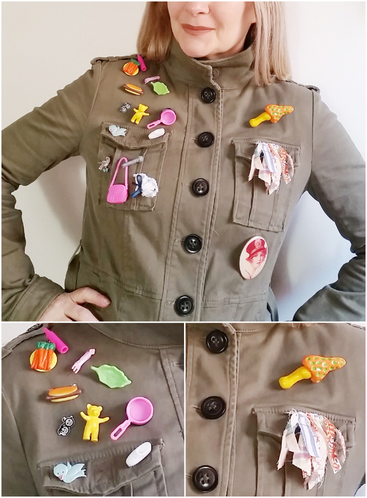 Crafty Upcycled Jacket Flair