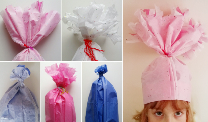 Easy DIY Upcycled Troll Party Hats