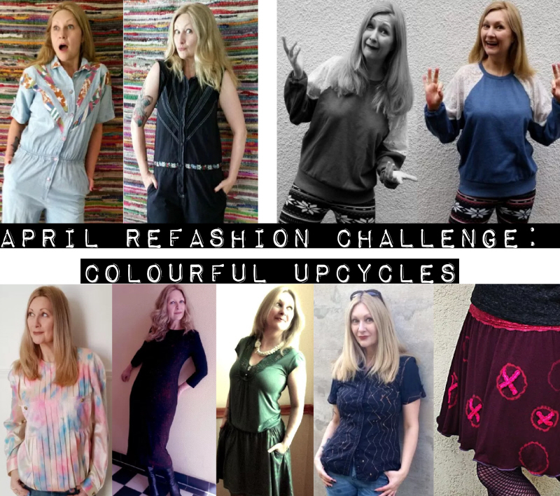 April Refashion Challenge: Colourful Upcycles