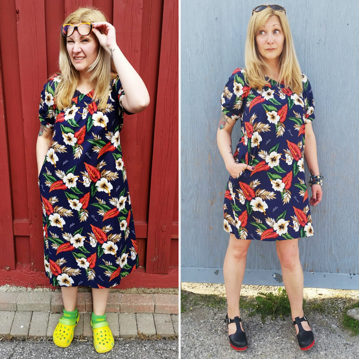 A Very Easy Hawaiian MuuMuu Refashion