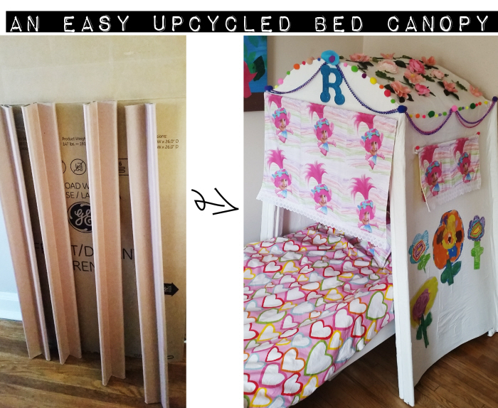 Easy Upcycled DIY Bed Canopy
