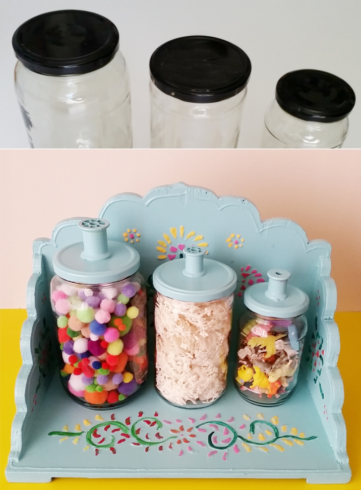 Upcycled DIY Storage Jars