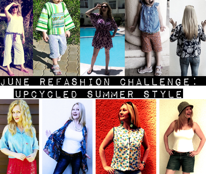 June Refashion Challenge: Upcycled Summer Style