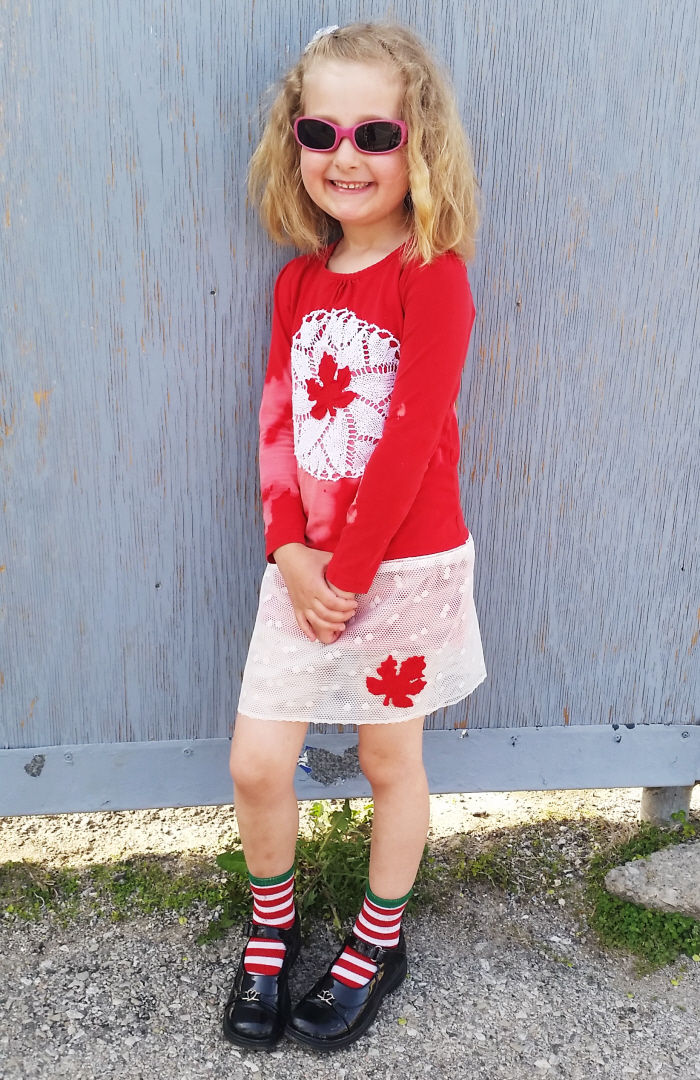 Very Easy DIY Canada Day Dress