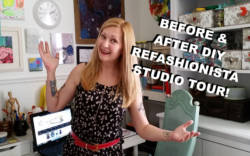 Before & After DIY Refashionista Studio Tour + Room Makeover & Tutorials