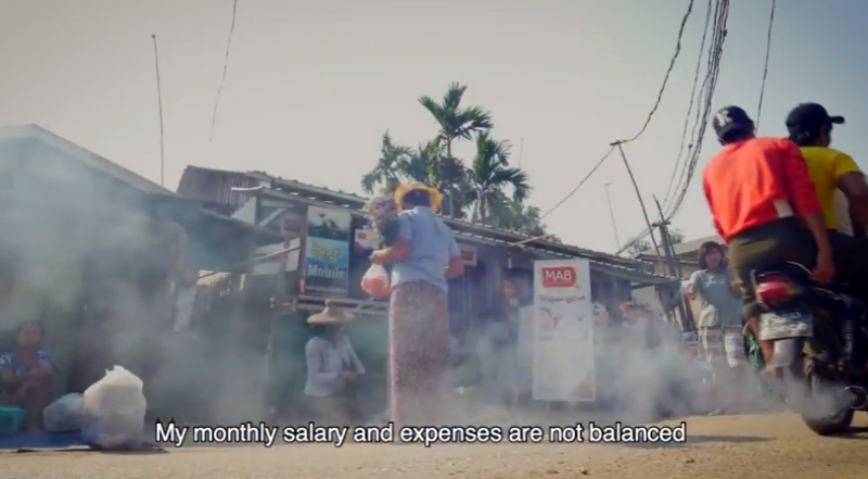 What is an average garment worker wage?