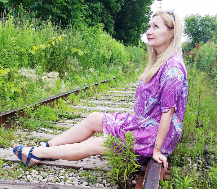 Pretty in Purple for #ThriftyThursday