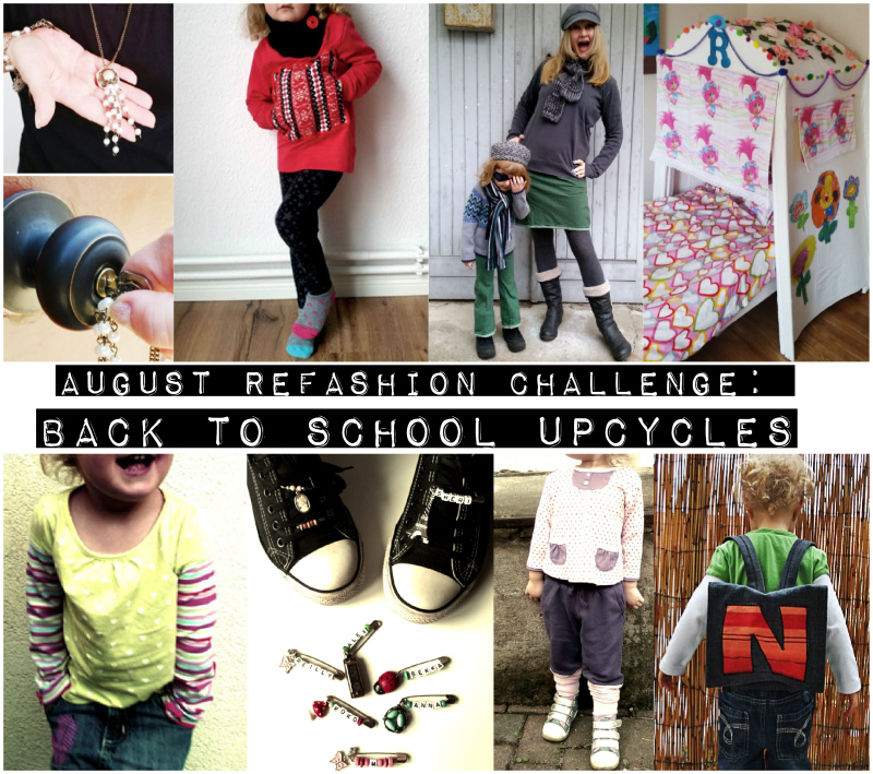 August Refashion Challenge: Back to School Upcycles