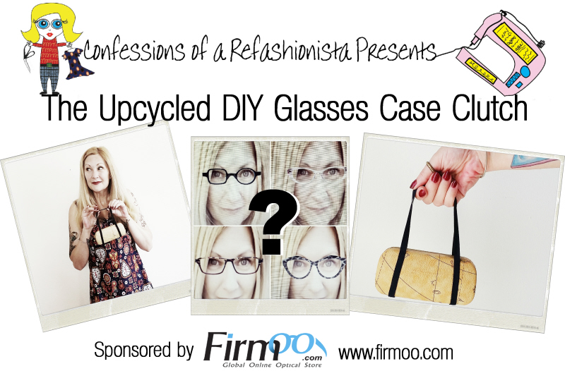Upcycled DIY Glasses Case Clutch