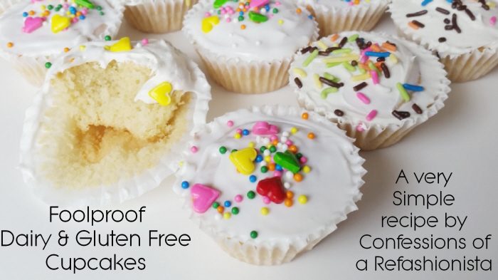 Foolproof Dairy and Gluten Free Cupcakes