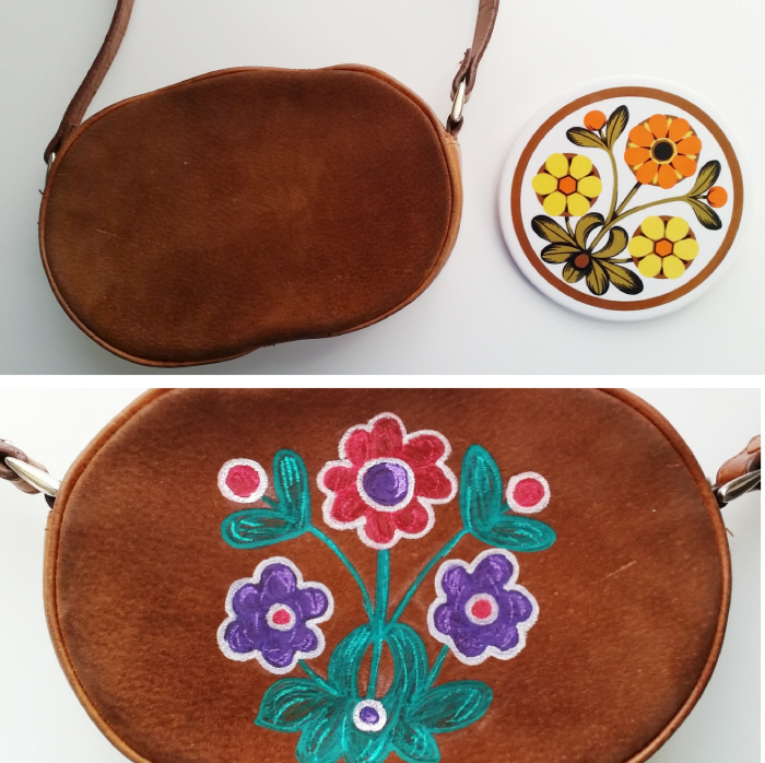 Embellish a vintage bag with an easy DIY image transfer