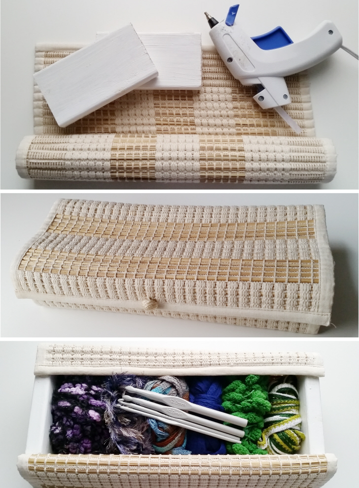 Upcycled Placemat Storage Box Tutorial