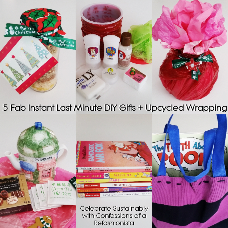 5 fab instant last minute diy gifts + upcycled wrapping