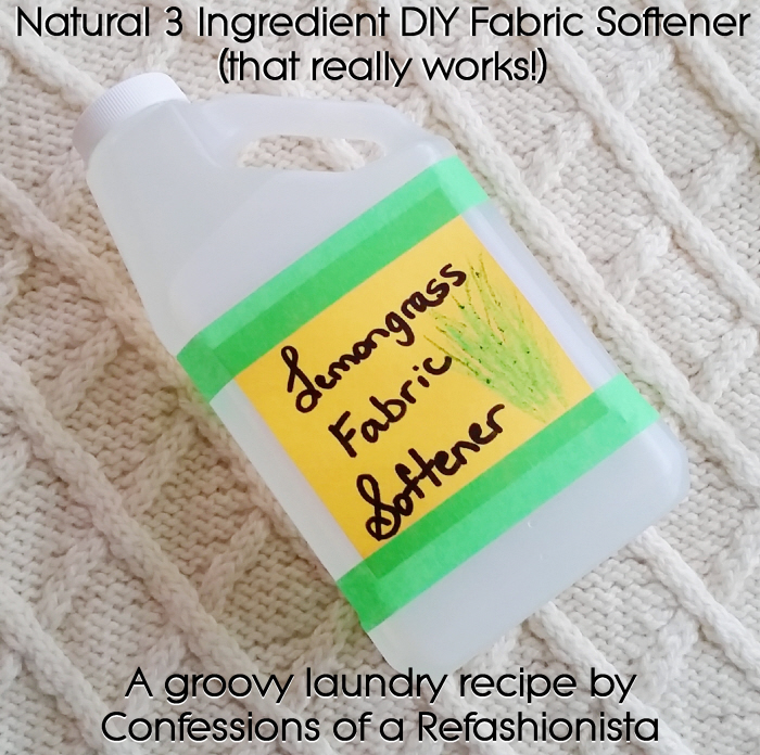 Natural 3 ingredient DIY Fabric Softener