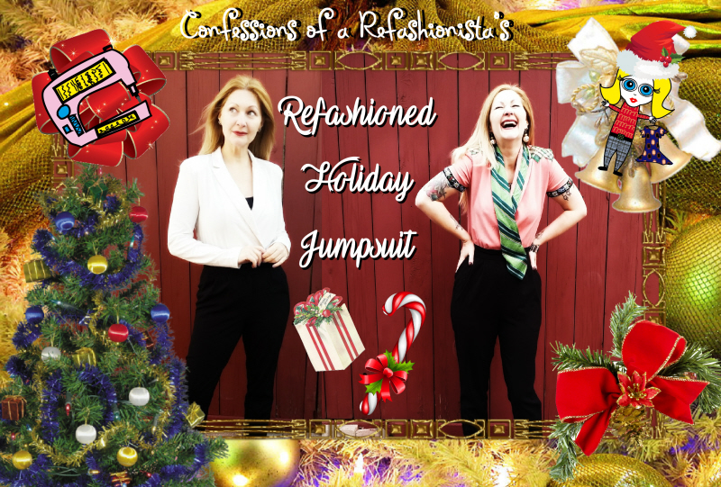DIY Vintage Holiday Jumpsuit Refashion Tutorial