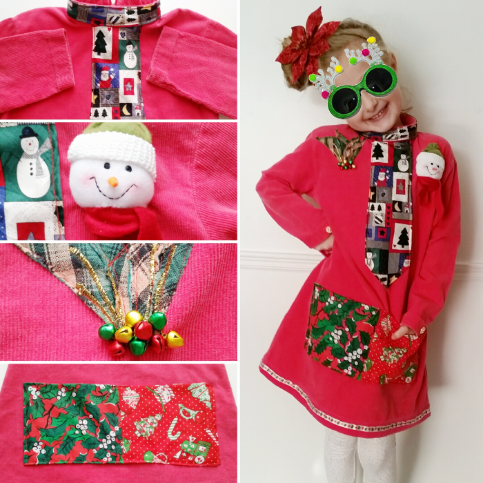 Upcycled DIY Refashioned Holiday Dress
