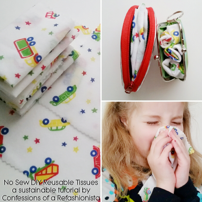 No Sew DIY Reusable Tissues