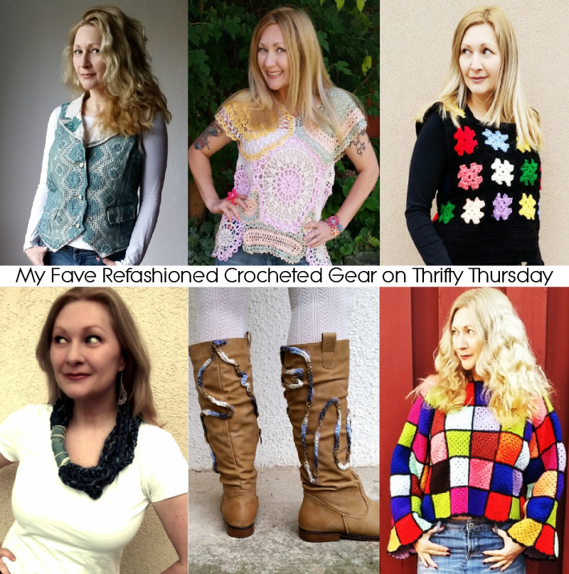 Refashioned Crocheted Gear on #ThriftyThursday
