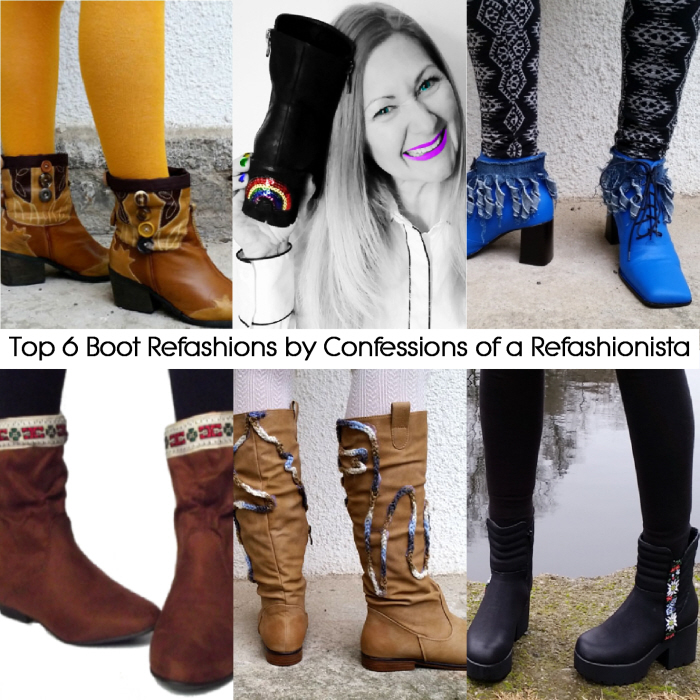 Top 6 boot refashions for #ThriftyThursday