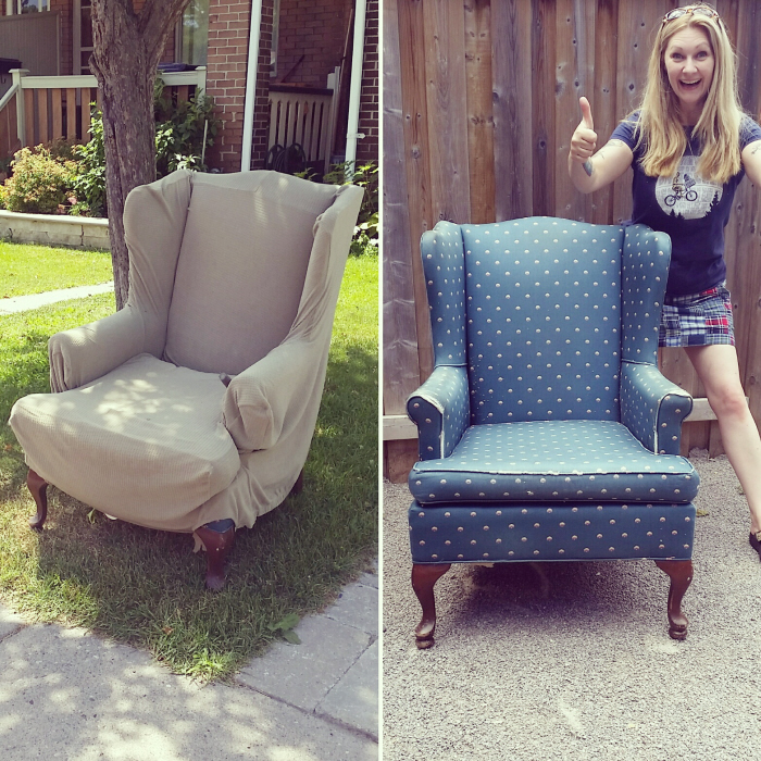 Superieur How To Reupholster A Wing Back Chair